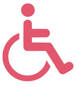 Wheel chair icon to show accessible premiss