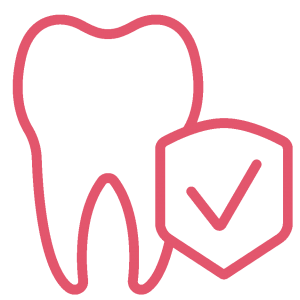 Insurance tooth icon
